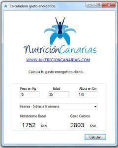 Imagen Calculadora Gasto Energetico