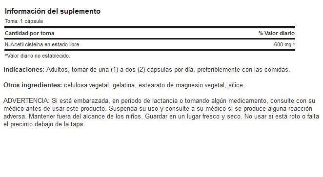 Etiqueta-N-Acetyl-Cisteina
