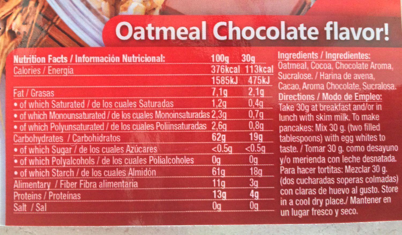 Comprar Quamtrax - Harina de Avena con sabores - Nutrición
