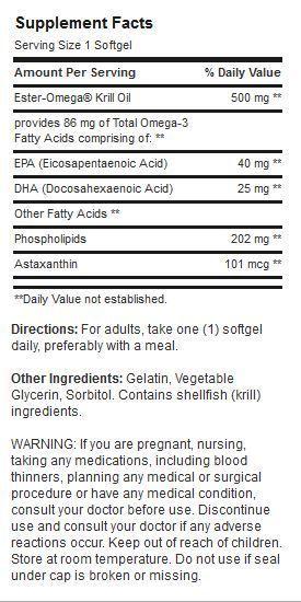 Etiqueta Aceite de Krill