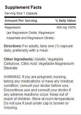 Etiqueta Triple Magnesio
