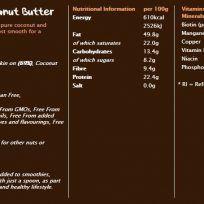 Etiqueta Crema de cacahuete y coco