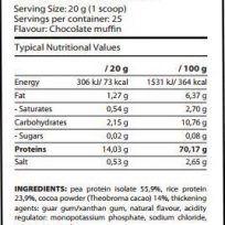 Etiqueta Vegan Protein