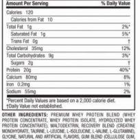 Etiqueta Muscletech Premium protein